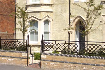 Cast iron railings and gate architectural metalwork